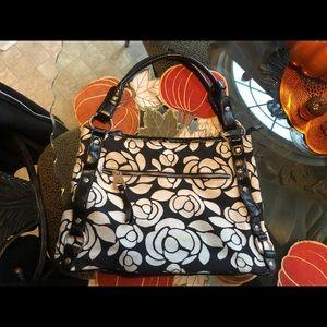 Floral canvas handbag